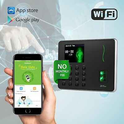 ZKTECO Biometric Fingerprint Time Attendance No Monthly Fees Recorder with Wifi