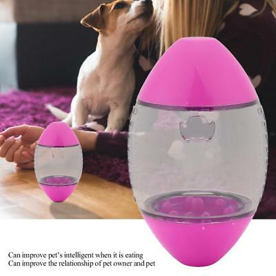 Pet Dog Cat Food Dispenser Treat Tumbler Feeder Interactive Puzzle Ball Play Toy