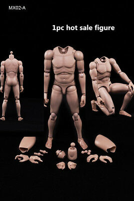 """Movable1/6 Scale MX02-A Europe Skin Men's Body Fit for 12"""" Male Figure Model Toy"""
