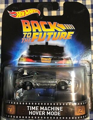 Set Of 3 - Hot Wheels Back to the Future Hover Mode Time Machine Delorean New