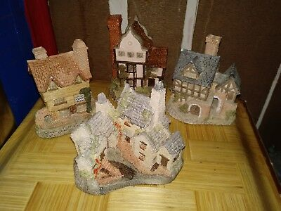 David Winter Cottages Lot Of 4 1980's