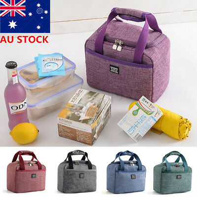 AU Thermal Cooler Insulated Lunch Handbag Portable Tote Carry Picnic Storage Bag