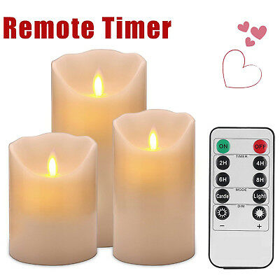 Flameless Wax Shape LED Flickering  Mood Candle Dancing Batter Lights Decoration