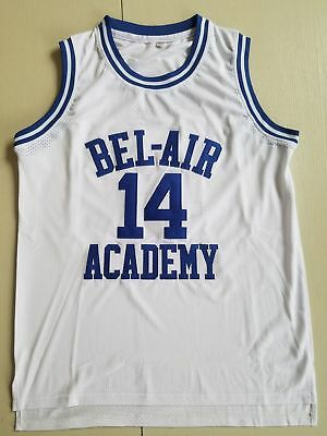 The Fresh Prince Will Smith 14# BEL AIR ACADEMY Basketball Jersey White