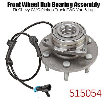 Wheel Hub Bearing Assembly For Chevy Gmc Truck 2Wd Front W/ Abs 6 Lug 515054