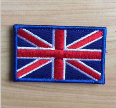 Britain Uk Flag Iron on Sew Embroidered Badge Patch 8X5cm  X1
