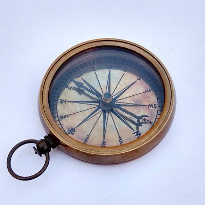 Antique Made For Royal Navy London Brass Directional compass