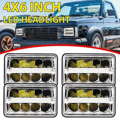 "4PCs DOT Approved 4x6"" CREE LED Headlights For Peterbilt Kenworth Freightliner"