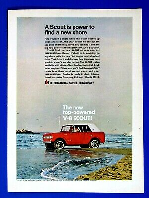 """1967 International Scout Power To Find A New Shore Original Print Ad 8.5 x 11"""""""