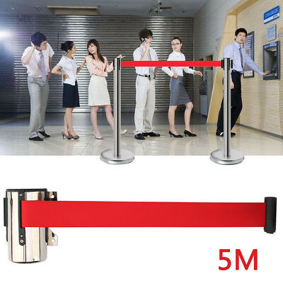 5M Queue Barrier Retractable crowd belt crowd queuing control obstacle rope