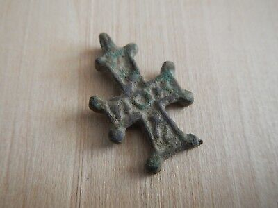 Ancient Byzantine Cross Pendant Bronze