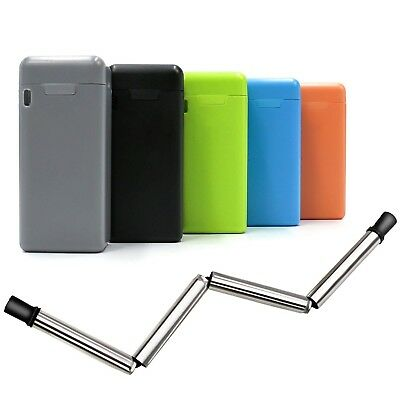 Portable Collapsible Drinking Straw Stainless Reusable Travel Outdoor Straws UK