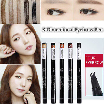 5Colors Eyebrow Tat Pen Waterproof Fork Tip Patented Microblading Ink Sketchs