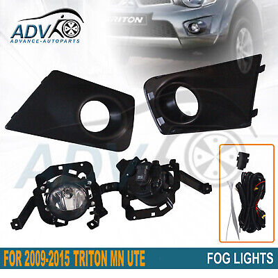 NEW DRIVING FOG LIGHT KIT SPOT LAMP SET for MITSUBISHI TRITON MN 2009 - 2015