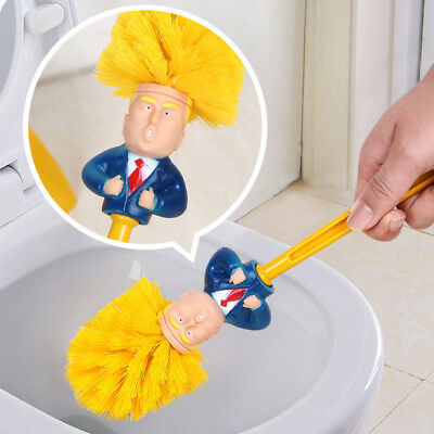 Donald Trump Home Use Toilet Brush Cleaning Tool Gift Hand Made Funny Present