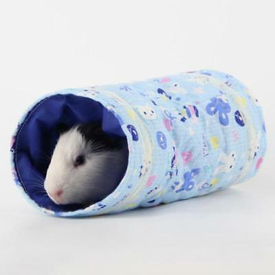 Mini 2 Ways Animal Tunnel Cotton Hamster Guinea Pig Exercise Cage Toy Pet Tube T