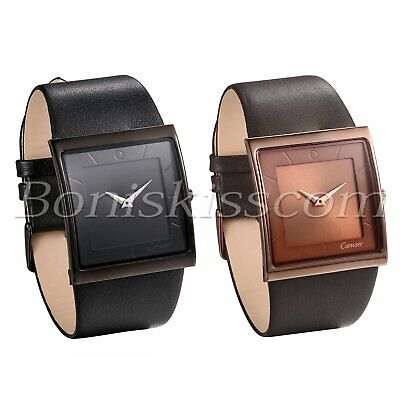 Men's Simple Casual Leather Strap Square Dial Quartz Analog Wrist Watch Watches