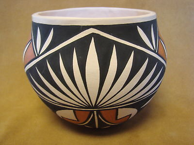 Acoma Indian Pottery Hand Coiled & Painted Pot PT0089