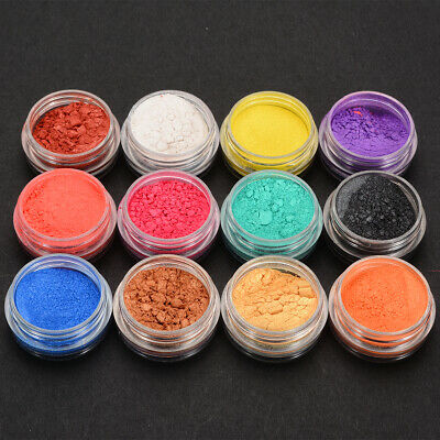 12 Bottle Mica Pigment Powder Perfect for Soap Making Cosmetics Makeup 7g
