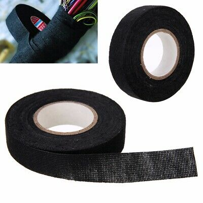 19mmx 15M Adhesive Cloth Fabric Tape Cable Looms Wiring Harness For Car Auto DIY