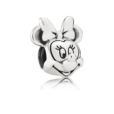 Genuine Pandora Disney, Minnie Portrait Spacer/Charm Sterling Silver 791587