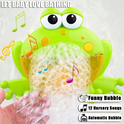Kid Baby Bubble Tub Frog Automatic Shower Machine Blower Maker Bath Music Toy UK
