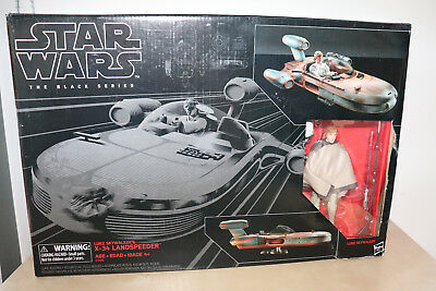 Luke Skywalker With X-34 Landspeeder Star Wars The Black Series 2017 6""