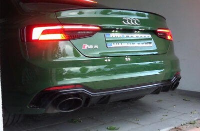 Audi A5 Painted Gloss Black  F5A B9 Sport S line Boot lip Spoiler Wing