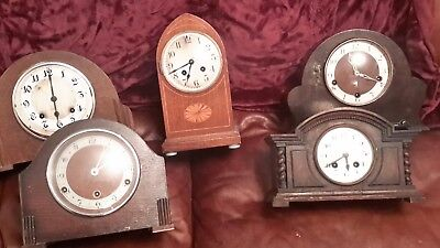 antique clocks spares or repair re listed due to time waster