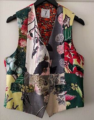 1980s Collectable TIMES SEVEN Todd OLDHAM Button Front VEST (sz M)