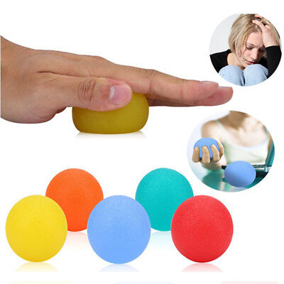 Sports Restore Strengthen Hand/Wrist/Finger Therapy Exerciser Grip Ball 5Pcs --