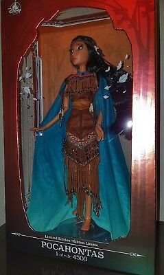 """Disney Pocahontas Limited Edition LE 4500 17"""" Doll Indian Girl"""
