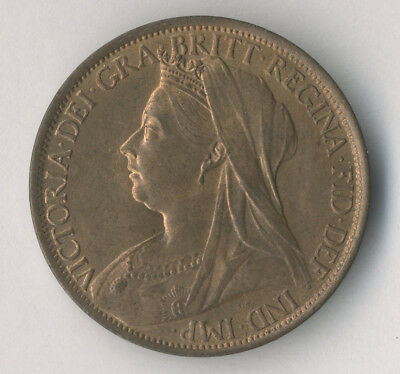 Victoria, penny, 1895, GEF with lustre
