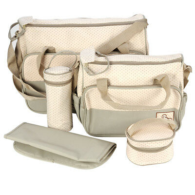 5 PCS MULTI-FUNCTION BABY NAPPY CHANGING BAG Portable