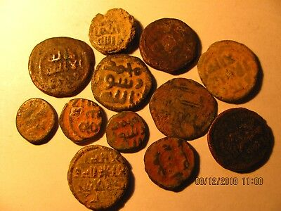 Lot D,  12 x ISLAMIC Old AE Coins - gute Qualität  - TO IDENTIFY -