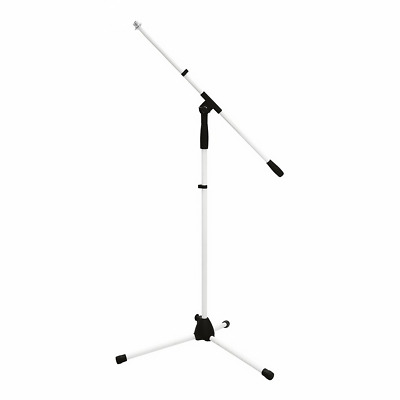 Omnitronic MS-1W White Microphone Stand Boom Tripod Mic Wedding Decor Band PA