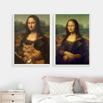 Mona Lisa Poster Da Vinci Paint Home Decor Canvas Print Picture Wall Room Art