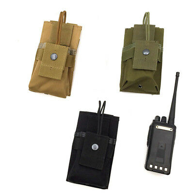 Outdoor Multi-Function Walkie-Talkie Bag Solid Color Camping Accessory Bag AT