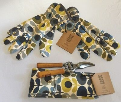 ORLA KIELY SET 🌱Women's Gardening gloves & Secateurs W/Tough Carry Pouch 🌱Gift