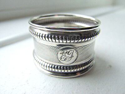 Hallmarked Silver Napkin Ring, Marks rubbed, 8g.