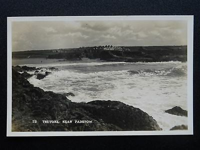 Cornwall TREVONE near PADSTOW - Old RP Postcard by F.A. Maycock of Polzeath