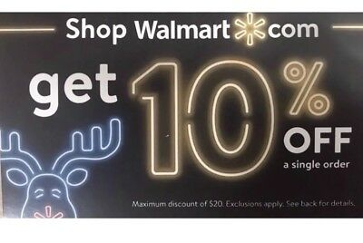 Walmart 10% OFF Online Couponcode Discount Message Delivery Exp 01-15-2019 code
