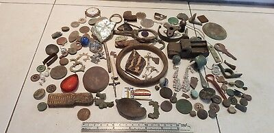 Huge lot of Uk metal detecting finds and eyes only finds Ancient to old. L112v