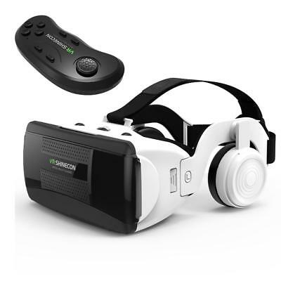 VR Headset with Stereo Headphones Hifi 3D VR Virtual Reality Glasses Handle Set