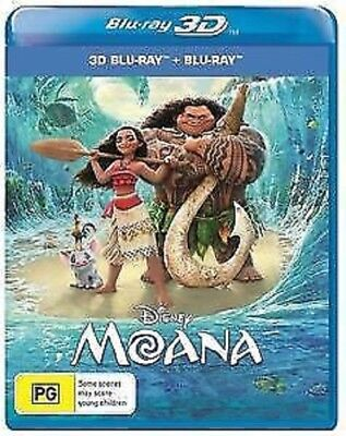 Moana Disney 3D Blu-Ray + 2D Blu-ray  - Region Free -  [New & Sealed]