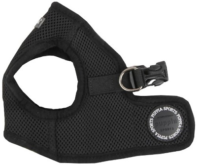 Puppia Soft Jacket Harness, Medium, Black