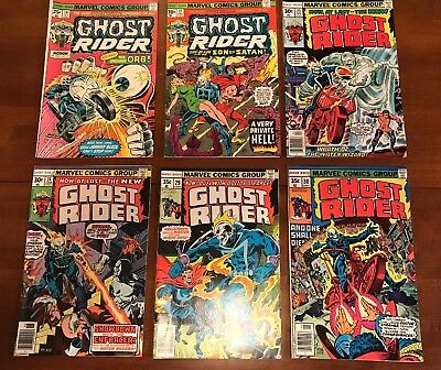 6 Ghost Rider Comics #14,17,23,24,29,30 Above Average Condition