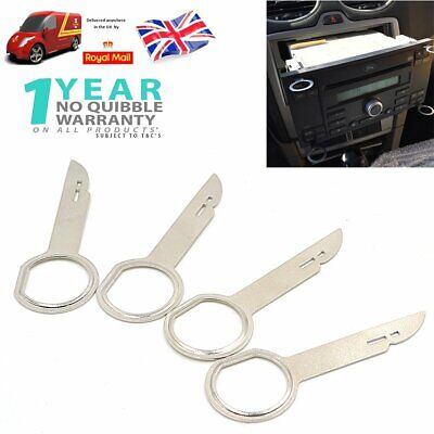 4x Dash IN Head Unit Car Radio Stereo Removal Release Removing Keys Tool Ford