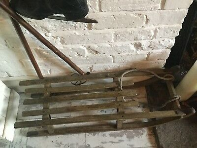 Original vintage snow sledge-
