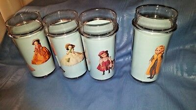 Madam Alexander Dolls Thermo Serve Tumblers, Drinking, Set of 4 NIB w/ Receipt